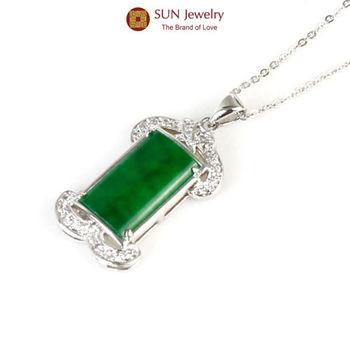 SUN Jewelry翡翠呈祥手工精鑲緬甸玉翡翠項鍊