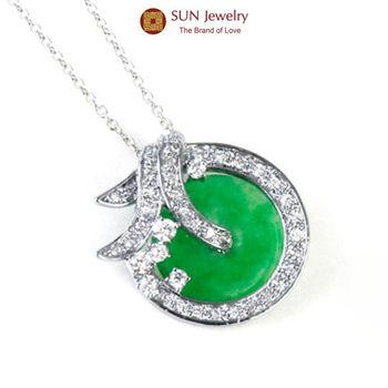 SUN Jewelry圓滿雙喜多功能緬甸玉翡翠項鍊
