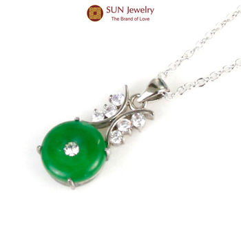 SUN Jewelry玉見富貴手工精鑲緬甸玉項鍊