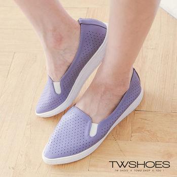 【TOMO】《韓國直送》洞洞鏤空設計尖頭休閒鞋(K120A2203)