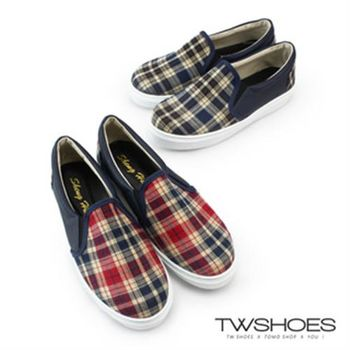 【TW Shoes】英倫風格紋厚底懶人鞋(K120IEQ012)