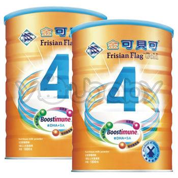 金可貝可兒童強化奶粉1800g x2罐