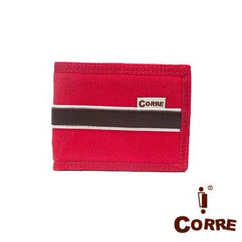 CORRE - 自我風格MIT原色系對折扣式短夾-共2色