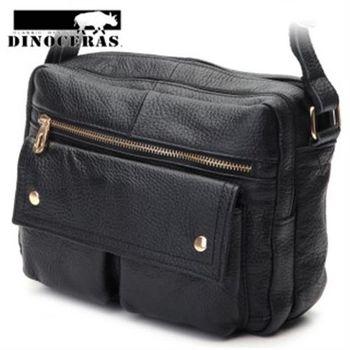 【DINOCERAS】日系時尚雙口袋側背牛皮包(共7色)