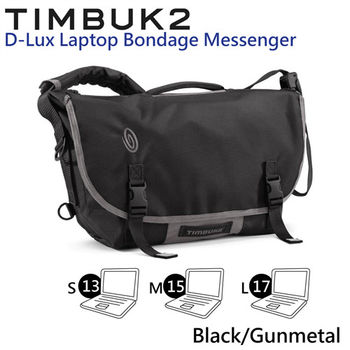 【美國Timbuk2】D-Lux Laptop Bondage Messenger 筆電抗震郵差包(Black/Gunmetal-S)
