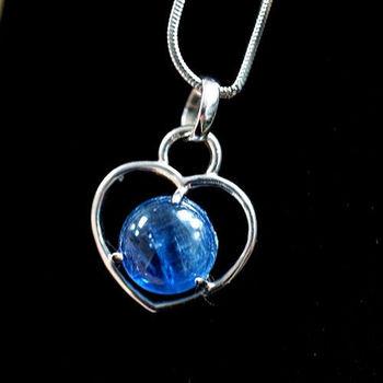 【喨喨飾品】藍晶石 純銀心型墜 M322