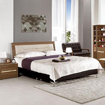 【H&D】維達5尺雙人床組-床頭片+床底
