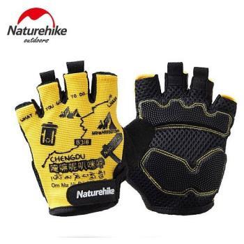 【Naturehike】抗震防滑耐磨半指騎行手套/運動手套 (炫黃)