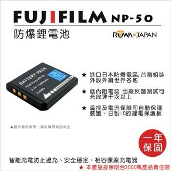 ROWA 樂華 For FUJI 富士 NP-50 NP50 電池