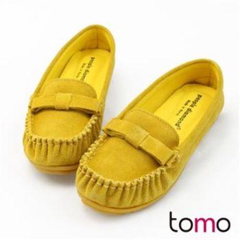 【TOMO】《韓國直送》質感真皮莫卡辛豆豆鞋(K160BE8002)