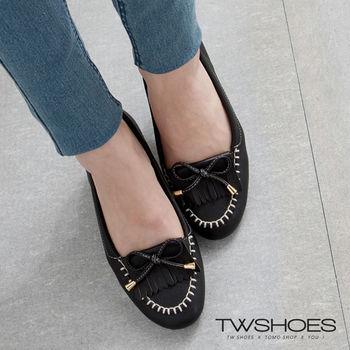 【TW Shoes】繽紛流蘇蝴蝶結莫卡辛豆豆鞋(K120A2067)