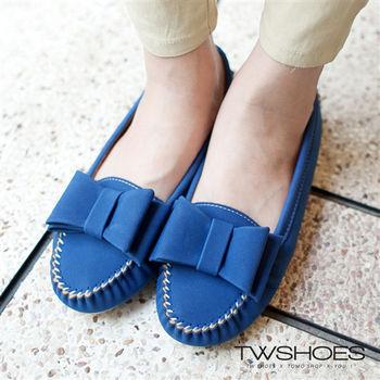 【TW Shoes】大蝴蝶結縫線莫卡辛豆豆鞋(K110A1520)