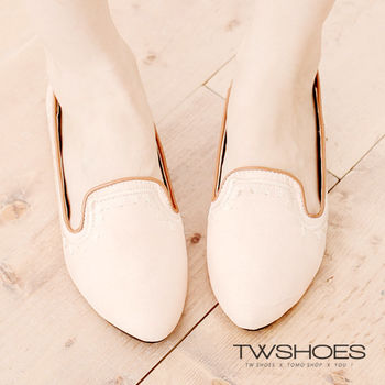 【TOMO】素色縫線低跟包鞋(K120B2744)