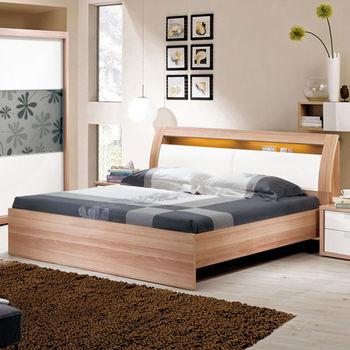 【H&D】尼斯克6尺雙人加大被櫥式床組