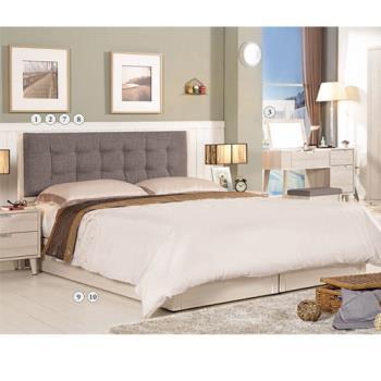 【H&D】艾莉莎6尺雙人加大床組-床頭片+床底