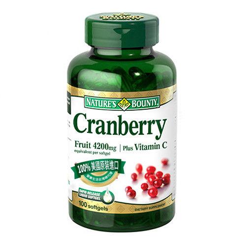 【自然之寶】蔓越莓軟膠囊 100顆*3瓶 限時限量加贈葡萄籽一瓶