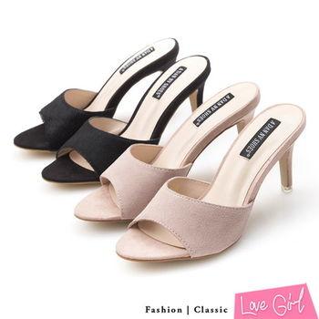 ☆Love Girl☆風采嚴選弧形一字高跟涼拖鞋