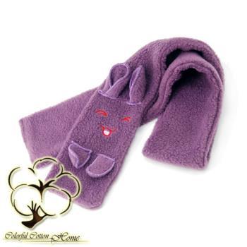【采棉居寢飾文化館】 紫色兔子圍巾