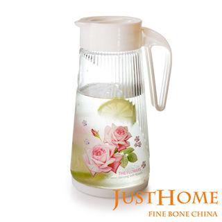 【Just Home】玫瑰緣時尚玻璃冷水壺1400CC