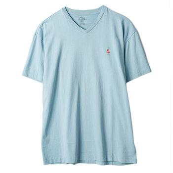 Ralph Lauren 男士短袖V領經典款 淡藍(S-XL)