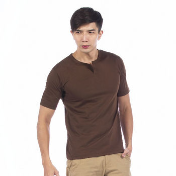 【滑雪家SKISPORTS】酷男排汗透氣高精梳純棉T恤-TM101-06咖啡(M~XL)