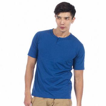 【滑雪家SKISPORTS】酷男排汗透氣高精梳純棉T恤-TM101-06藍(M~XL)