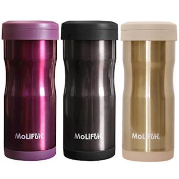 MoliFun魔力坊 不鏽鋼雙層高真空附專利濾網保溫杯瓶350ml
