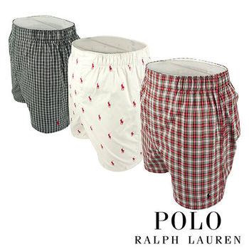 《Polo》Polo Ralph Lauren 經典馬球純棉平口褲-3入組(PCD)