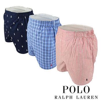 《Polo》Polo Ralph Lauren 經典馬球純棉平口褲-3入組(PSD)