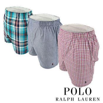 《Polo》Polo Ralph Lauren 經典馬球純棉平口褲-3入組(VND)