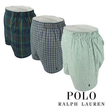 《Polo》Polo Ralph Lauren 經典馬球純棉平口褲-3入組(M4D)