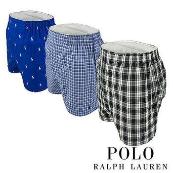 《Polo》Polo Ralph Lauren 經典馬球純棉平口褲-3入組(TGD)