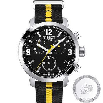 TISSOT PRC 200環法自行車賽計時特別版腕錶-黑/42mm T0554171705701