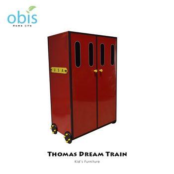 【obis】Kids Neverland 兒童雙門衣櫃-湯瑪士小火車