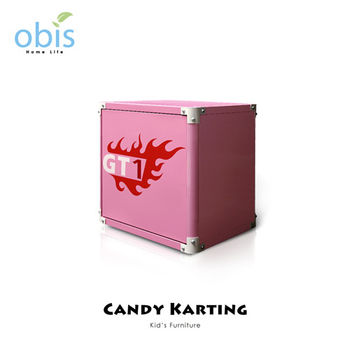 【obis】Kids Neverland 兒童床頭櫃-糖果卡丁車