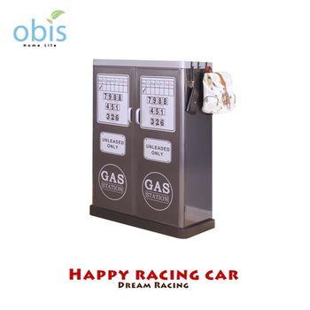 【obis】Kids Neverland 兒童加油箱雙門衣櫃-閃電賽車