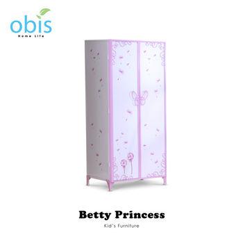 【obis】Kids Neverland 兒童雙門衣櫃-貝蒂公主