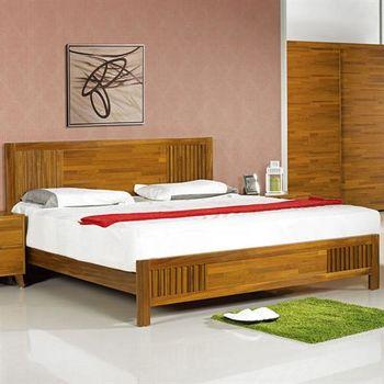 【H&D】丹麥5尺柚木雙人床
