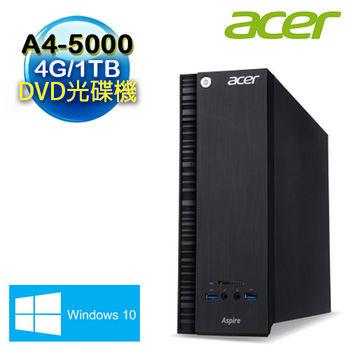 Acer 宏碁 AXC-105B AMD A4-5000雙核 4G 1TB大容量 Win10 桌上型電腦 (ACX-105BEE053)