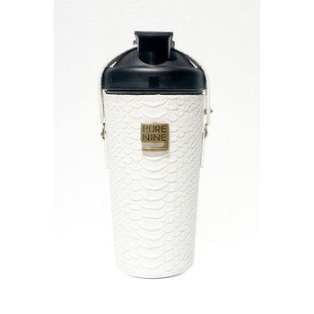 韓國Purenine升級款-河智苑代言智能轉鹼水瓶-白色皮套720ml