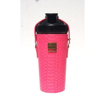 韓國Purenine升級款-河智苑代言智能轉鹼水瓶-粉紅皮套720ml
