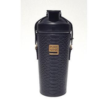 韓國Purenine升級款-河智苑代言智能轉鹼水瓶-黑色皮套720ml