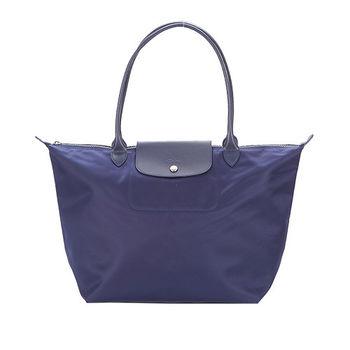 LONGCHAMP Le Pliage Neo 厚尼龍大型長把水餃包(深藍)