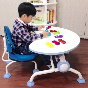 【第一博士】月亮書桌椅組 (藍色月亮桌+青蛙椅組)