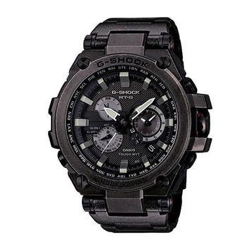 CASIO G-SHOCK MT-G系列全金屬飛行錶款限定/仿舊黑-58.6mm/MTG-S1000V-1A
