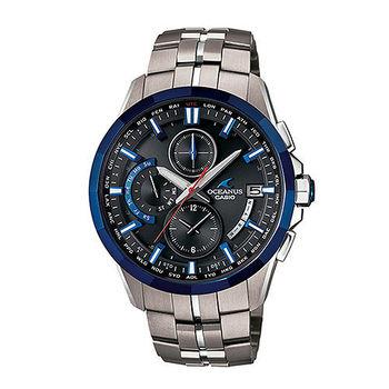 CASIO 卡西歐 OCEANUS 鈦合金海洋風運動時計腕錶-OCW-S3001E-1A