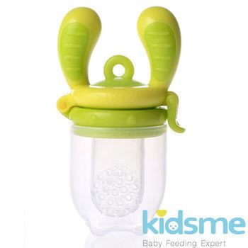 英國kidsme咬咬樂輔食器-綠黃M號 (FH160350)