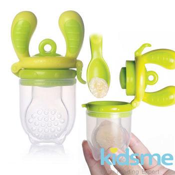 英國kidsme咬咬樂輔食器-綠黃L號 (FH160337)