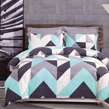 【情定巴黎】艾卡倫 100%精梳純棉雙人四件式床包被套組-獨立筒適用