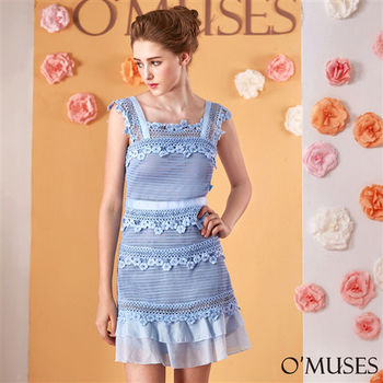 【OMUSES】歐美蕾絲修身洋裝37-1123(S-XL)